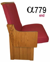 Alpha Pew Series from Virginia Church Furniture